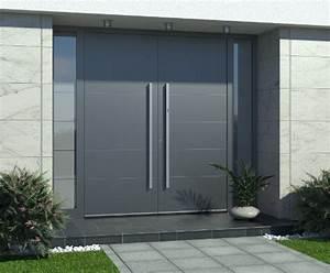 portes dentree double vantaux sur mesure pvc bois alu With porte d entrée double vantaux