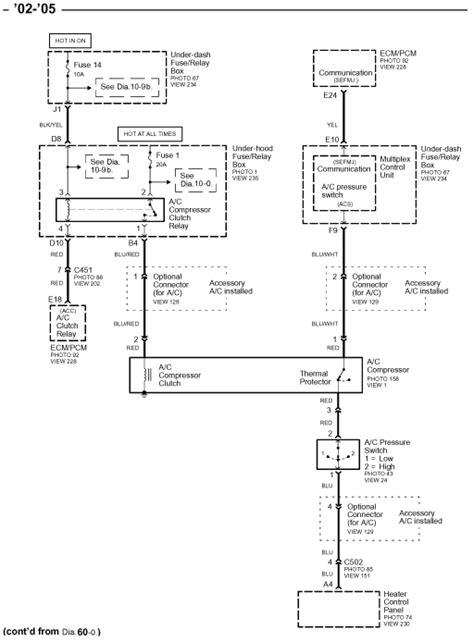 2002 honda civic ac wiring diagram i a 2002 honda civic 4 door sedan and i m air