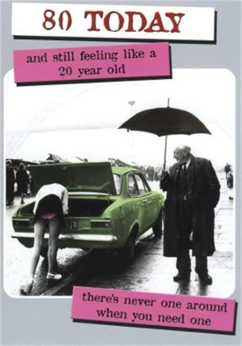 Humorous 80th Birthday Card   Pink Knickers