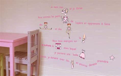 couleur de chambre pour ado fille stickers histoire de danse