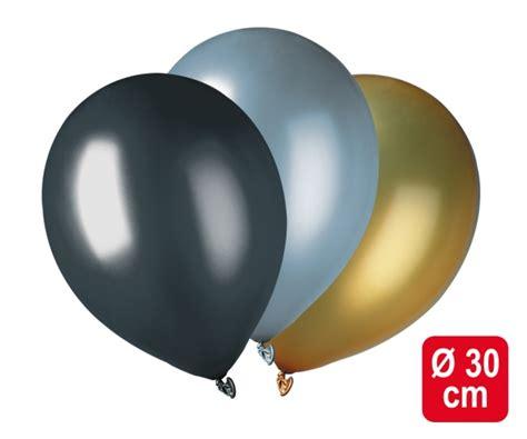 deko gold silber luftballons schwarz gold silber metallic festliche deko