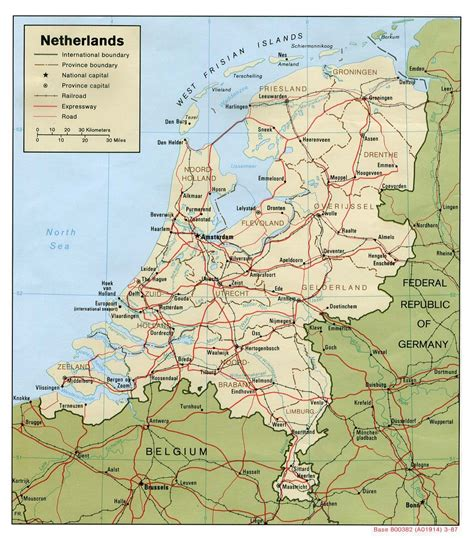 road map  netherlands holland netherlands road map