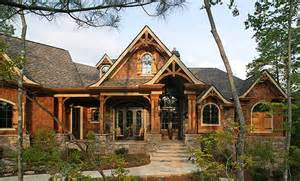 Top Photos Ideas For Lake House Plans Sloping Lot by Mountain Craftsman