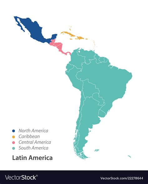 map  latin america royalty  vector image
