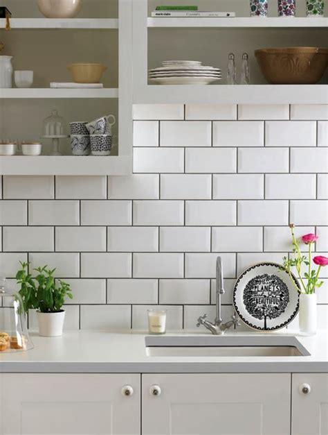 the grout makes this white subway tile pop try this