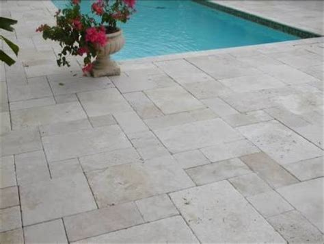 are travertine tiles pavers slippery when tumbled