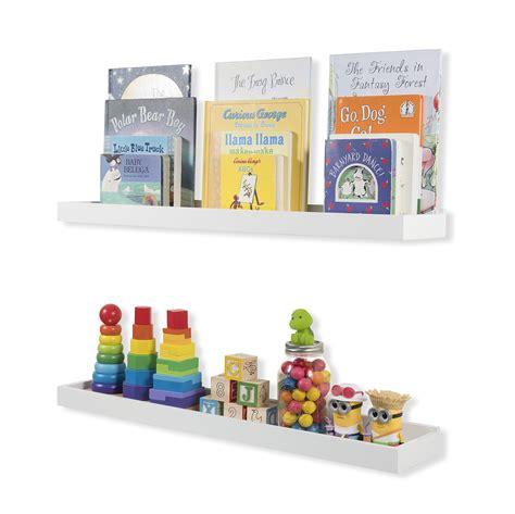 nursery floating shelves set of 2 nursery room wall shelf white wood 1118