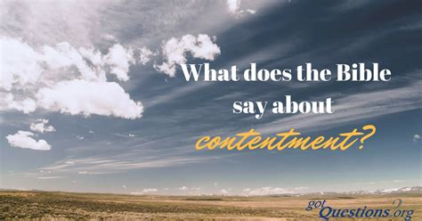 bible   contentment