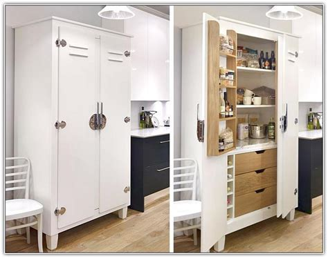 White Kitchen Pantry Free Standing   Home Design Ideas