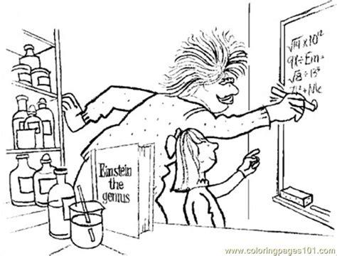Dibujo Para Colorear De Albert Einstein