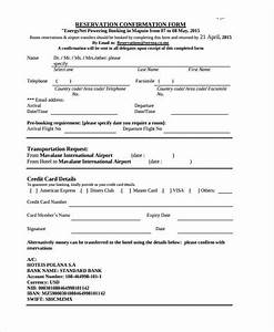 10 booking confirmation forms free sample example for Accommodation booking form template