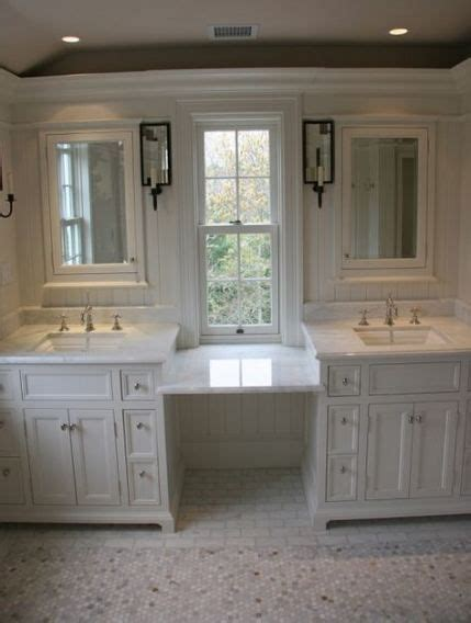 makeup vanity small space double sinks  ideas