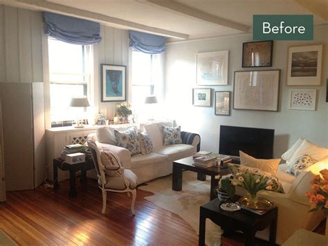 Living Room Makeovers Before And After Pictures by Before And After A Manhattan Living Room Makeover