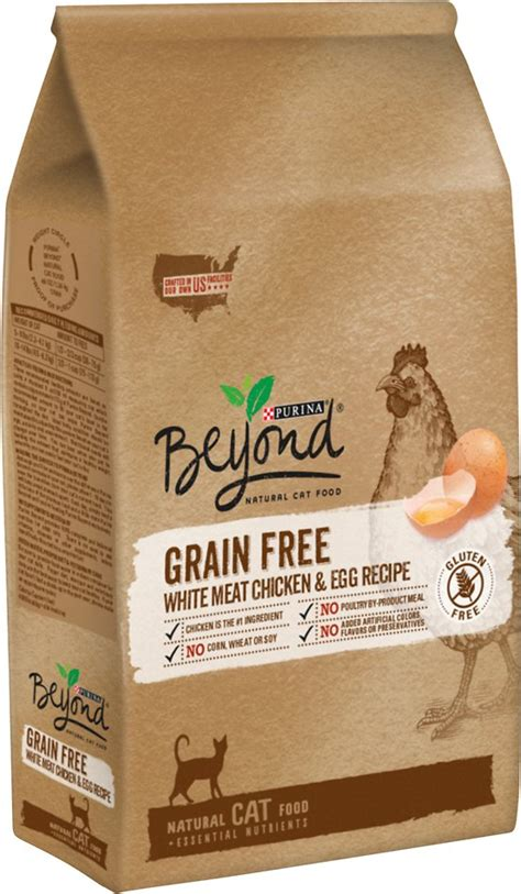 best grain free cat food purina beyond white meat chicken egg recipe grain free dry cat food 5 lb bag chewy com