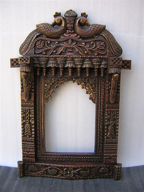 Living Room Mirrors India by Beautiful Wooden Crafted Mirror With Peacock Design