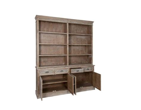 grand meuble biblioth 232 que bois c 233 rus 233 avec placard pas chere