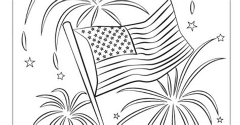 Patriotic Fireworks Usa Coloring Page Kids Children 4th