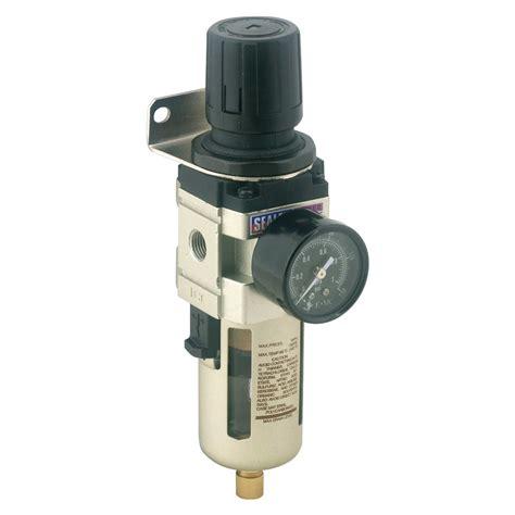 sealey air filter regulator max airflow 70cfm workshop air supply setup sa106fr ebay