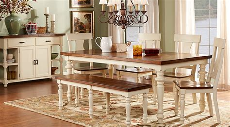 rooms to go farmhouse table hillside cottage white 5 pc dining room dining room sets