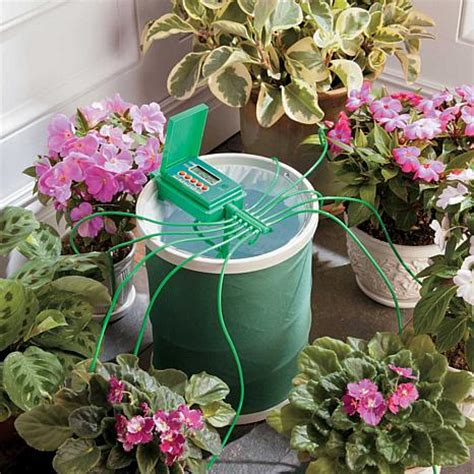 garden watering system automatic plant watering system with coil basket 6925417