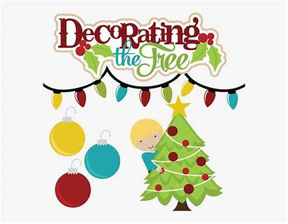 Christmas Tree Decorating Decoration Clip Clipart Svg
