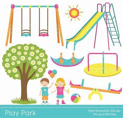 Park Clipart Play Playground Swings Clip Ride