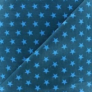 Tissu Velours Bleu Canard : tissu velours milleraies toiles turquoise fond bleu canard x 10cm ma petite mercerie ~ Teatrodelosmanantiales.com Idées de Décoration