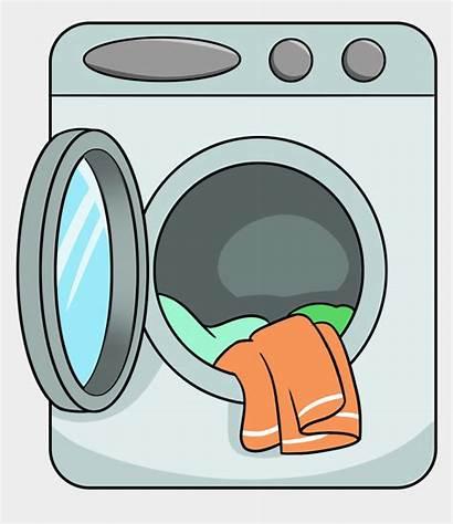 Washing Clipart Machines Machine Cartoon Clip Clothes