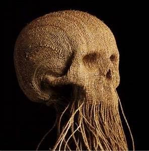 Skullptures Mystery Artist Named 39Jim39 Makes Dangly Twine Skull Art