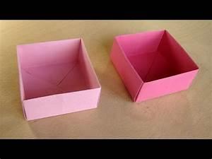 Quadratische Schachtel Falten : schachtel mit deckel basteln mit papier origami box falten basteln ideen youtube ~ Eleganceandgraceweddings.com Haus und Dekorationen