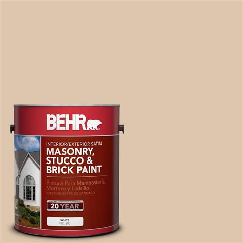 brick paint colors at home depot behr 1 gal ppu3 8 dust satin interior exterior masonry stucco and brick paint 28001