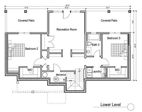 daylight basement plans 2 bedroom house plans with walkout basement inspirational