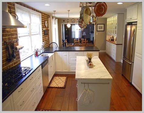 ideas for narrow kitchens narrow kitchen island table home ideas