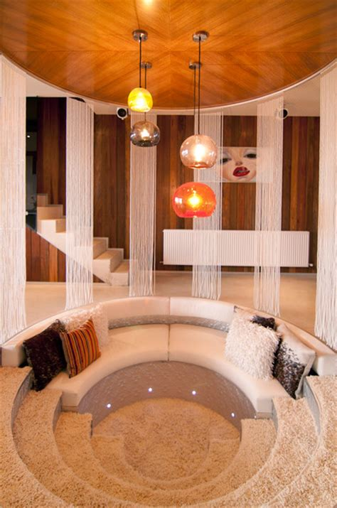 Resort Penthouse Conversation Pit - Contemporary - Living