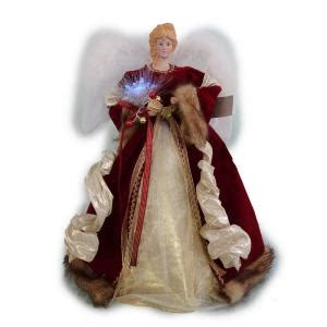 home accents holiday   led red fiber optic angel