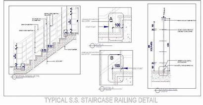 Staircase Typical Railing Stair Showing Stairs Section