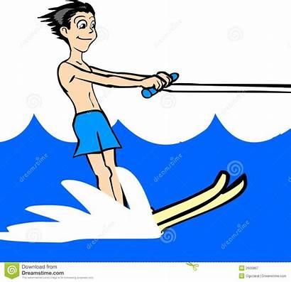 Skiing Water Ski Clipart Waterski Vector Illustration