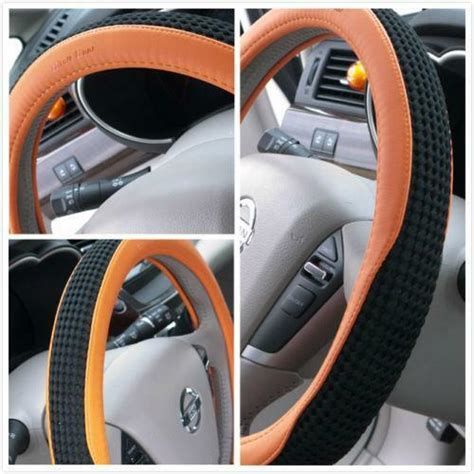 black and orange steering wheel cover orange steering wheel cover ebay