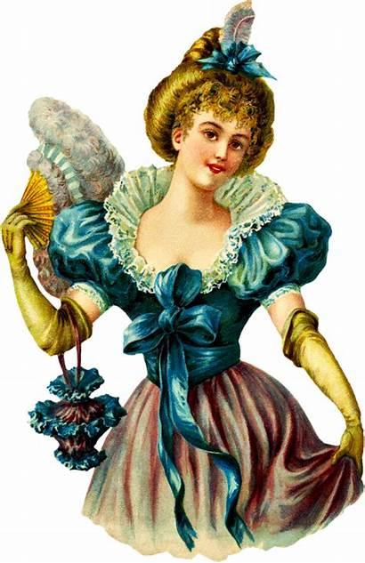 Victorian Clipart Woman Clip Purse Die Lady