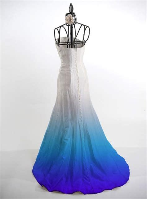 ombre dye service for silk wedding dresses fun wedding