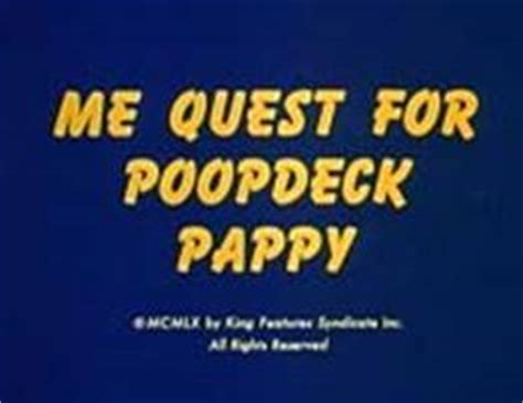 me quest for deck pappy popeye me quest for poopdeck pappy 1960