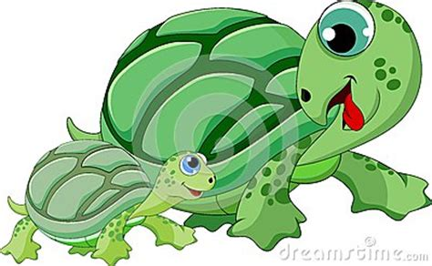 mother  child turtle cartoon royalty  stock