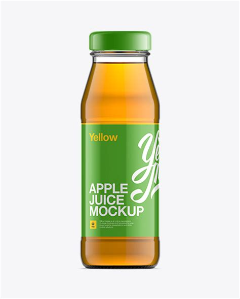 Free mockups clear glass dropper bottle with metal cap mockup object mockups. Clear Bottle W/ Apple Juice Mockup in Bottle Mockups on ...