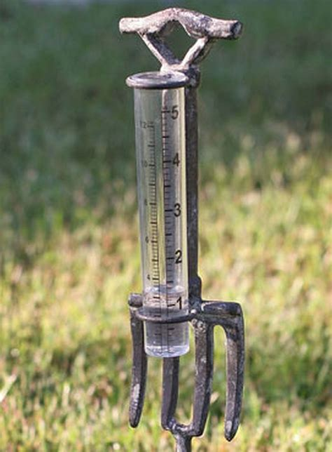 Decorative Outdoor Gauges by Decorative Rustic Weathered Gray Industrial Fork 5 Inch