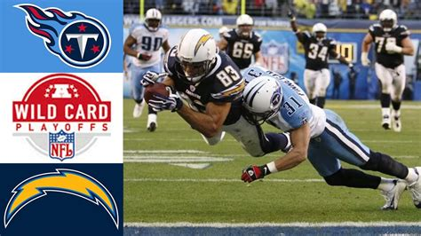 titans  chargers  afc wild card youtube