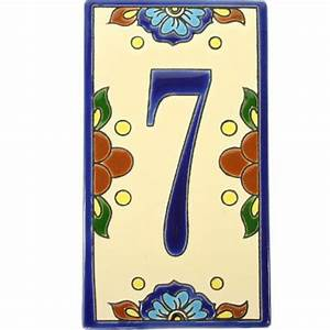 mexican tile house numbers and letters mexican tile designs With mexican tile letters