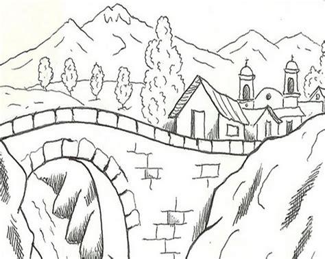 12 gambar mewarnai pegunungan dan sawah