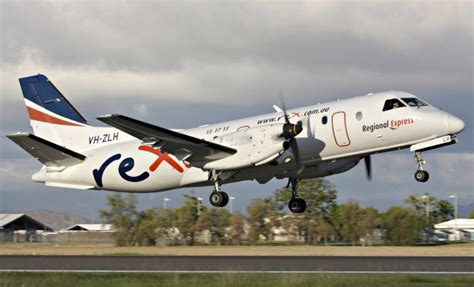 rex saab 340 australian wagga air pilot airline flight queensland townsville academy seth simulator routes jaworski wins its regulated three
