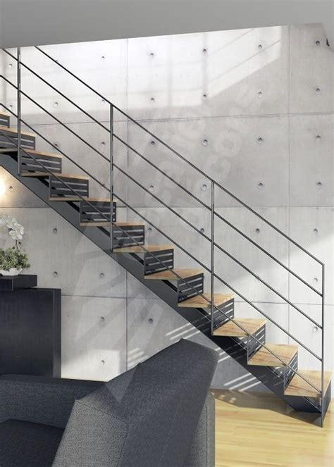 photo dt126 esca droit 174 sur limon central escalier d int 233 rieur design en m 233 tal et bois pour