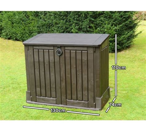Keter Woodland Midi Storage Box by Buy Keter Woodland Midi Store It Out Shed At Argos Co Uk